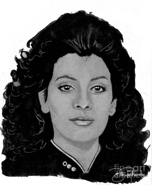 Drawing - Deanna Troi by Bill Richards