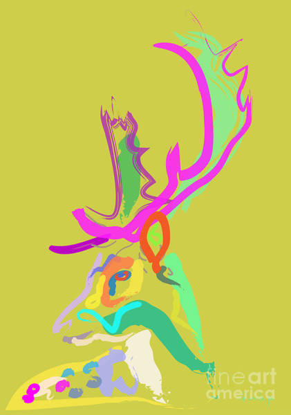 Painting - Dear Deer by Go Van Kampen