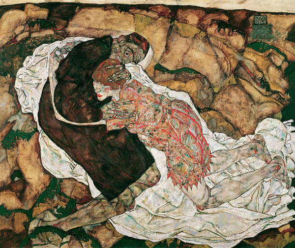 Tragedy Painting - Death And Girl by Egon Schiele
