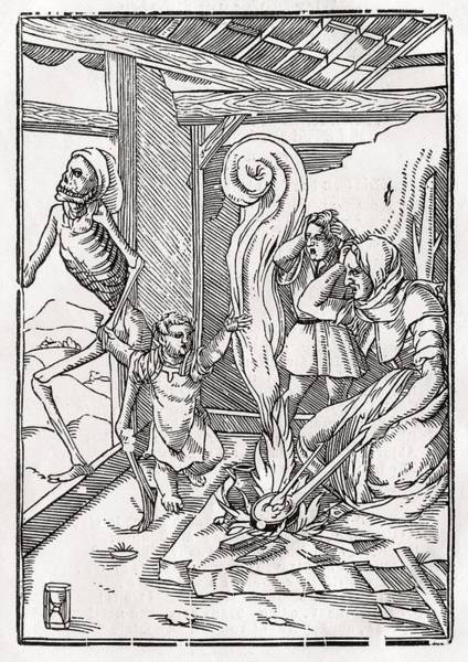 Destiny Drawing - Death Comes For The Child After Hans by Vintage Design Pics