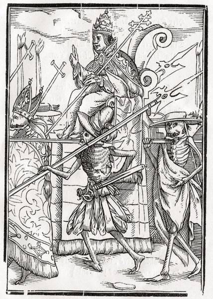 Destiny Drawing - Death Comes For The Pope From Der by Vintage Design Pics