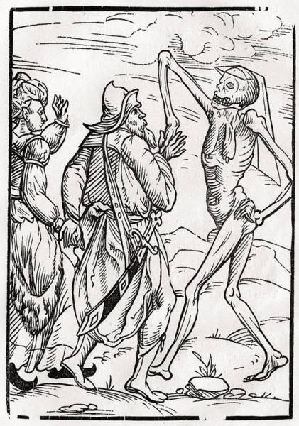 Destiny Drawing - Death Comes For The Unbelieving Husband by Vintage Design Pics
