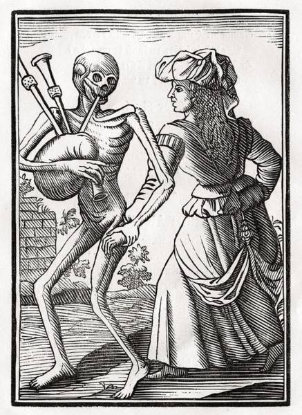 Destiny Drawing - Death Comes For The Unbelieving Woman by Vintage Design Pics