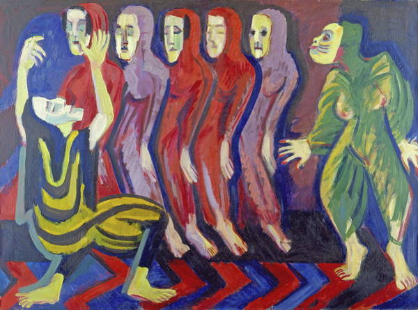 White Zombie Painting - Death Dance Of Mary Wigman by Ernst Ludwig Kirchner