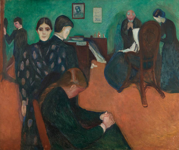 Norwegian Painting - Death In The Sickroom  by Edvard Munch