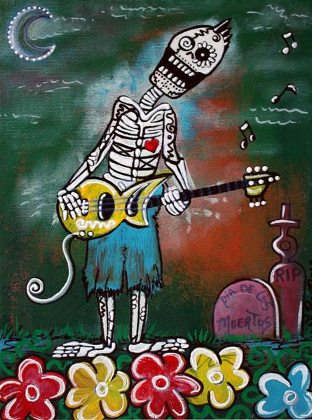 Wall Art - Painting - Death Jam by Laura Barbosa