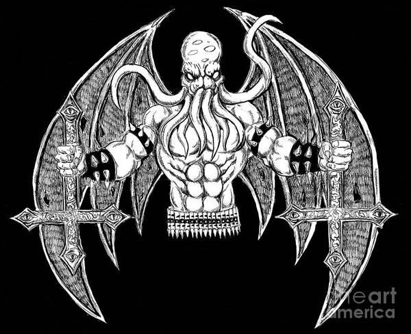 Demonic Drawing - Death Metal Cthulhu Digital by Alaric Barca