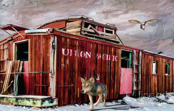 Red Caboose Painting - Death Of A Caboose  by L Wright
