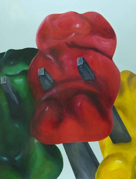 Gummy Bear Painting - Death Of A Gummy Bear I by Josh Bernstein