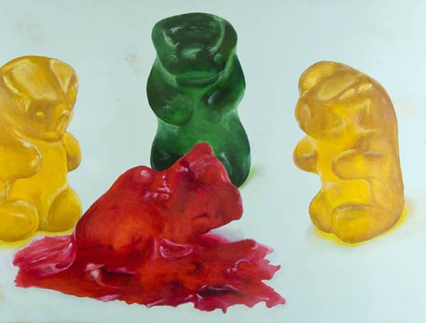 Gummy Bear Painting - Death Of A Gummy Bear II by Josh Bernstein