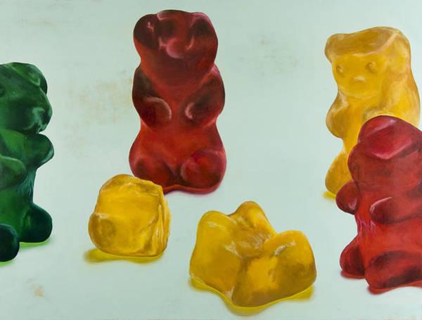 Gummy Bear Painting - Death Of A Gummy Bear IIi by Josh Bernstein