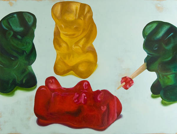 Gummy Bear Painting - Death Of A Gummy Bear Iv by Josh Bernstein