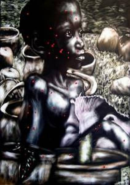 Chester Mixed Media - Death Of A Thousand Cuts by Chester Elmore