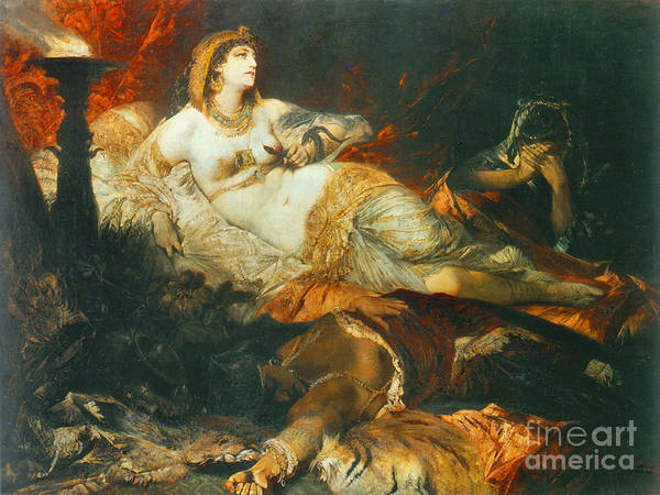 Asps Photograph - Death Of Cleopatra 1875 by Padre Art