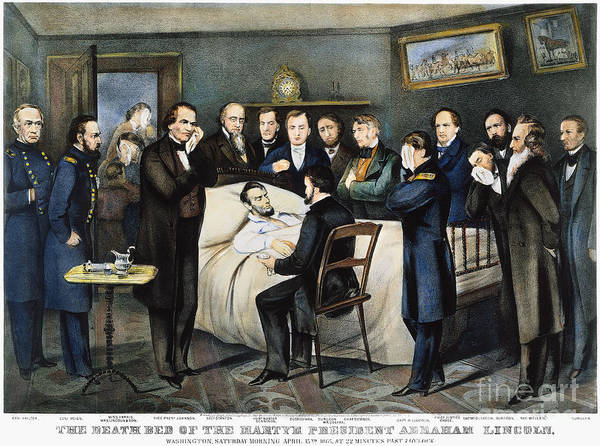 Photograph - Death Of Lincoln, 1865 by Granger