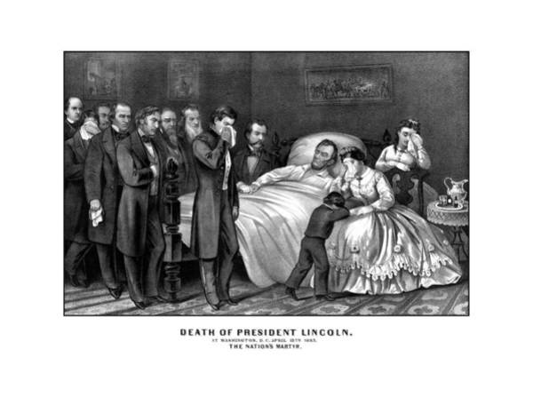 United States Drawing - Death Of President Lincoln by War Is Hell Store