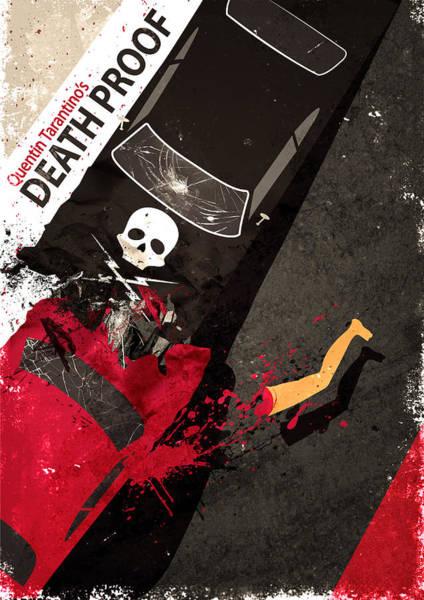 Digital Art - Death Proof Quentin Tarantino Movie Poster by IamLoudness Studio