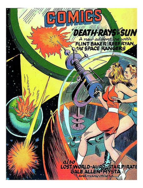 Wall Art - Painting - Death Rays From The Sun by Long Shot