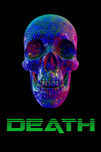 Digital Art - Death Skull - Bubblewrap by Bert Ernie