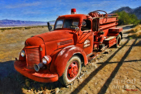 Photograph - Death Valley Fire Truck by Blake Richards