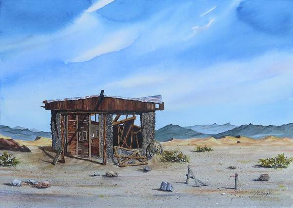Death Valley Painting - Death Valley Mine by Joseph Burger