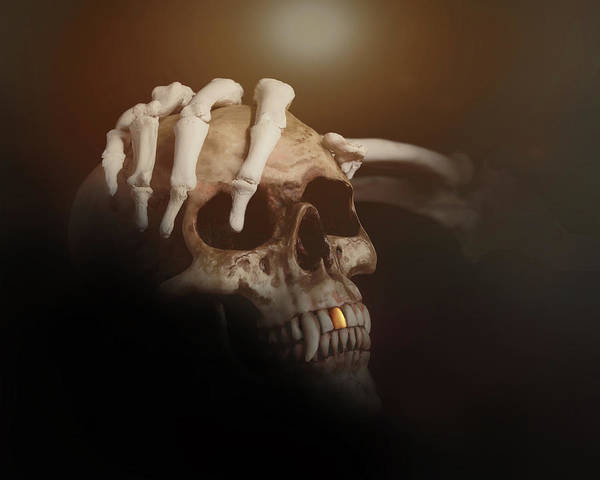 Tooth Photograph - Death's Head by Tom Mc Nemar