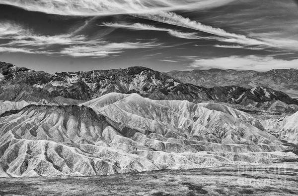Deathvalley Cracks And Ridges Art Print