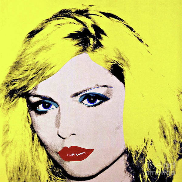 Wallpaper Mixed Media - Debbie Harry, Andy Warhol by Thomas Pollart