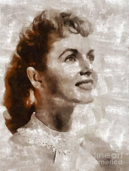 Wall Art - Painting - Debbie Reynolds By Mary Bassett by Mary Bassett