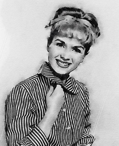 Wall Art - Painting - Debbie Reynolds Hollywood Actress by John Springfield