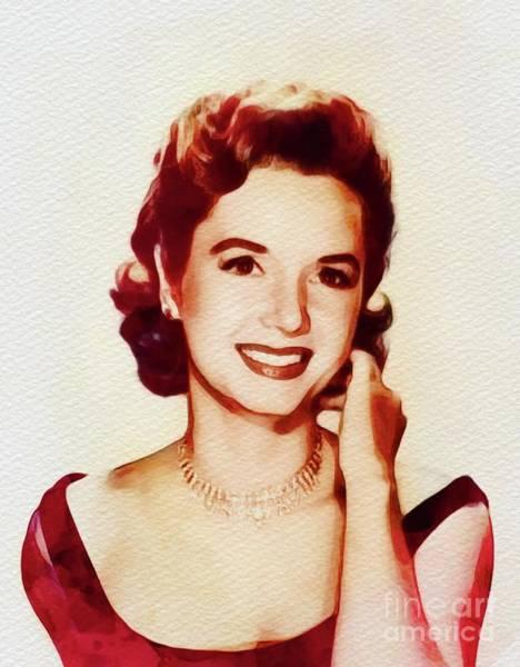 Wall Art - Painting - Debbie Reynolds, Hollywood Legend by John Springfield