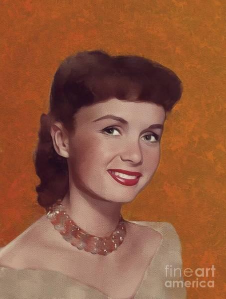 Wall Art - Painting - Debbie Reynolds, Hollywood Legend by Mary Bassett