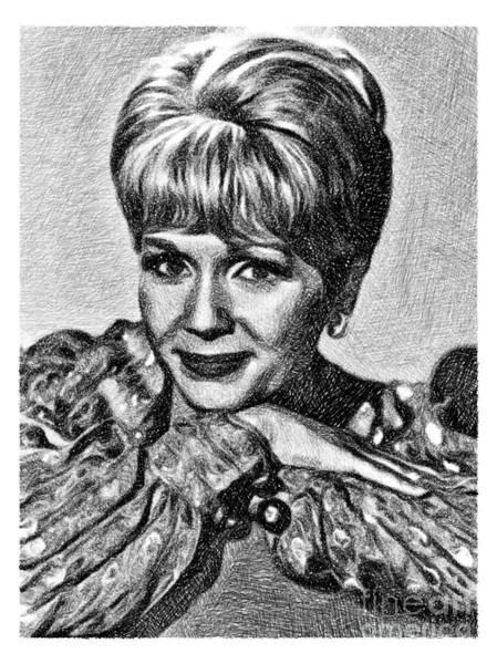 Wall Art - Drawing - Debbie Reynolds, Vintage Actress By Js by John Springfield