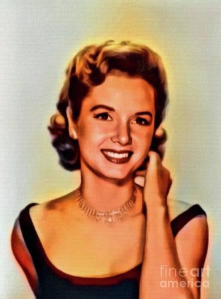 Wall Art - Digital Art - Debbie Reynolds, Vintage Actress. Digital Art By Mb by Mary Bassett
