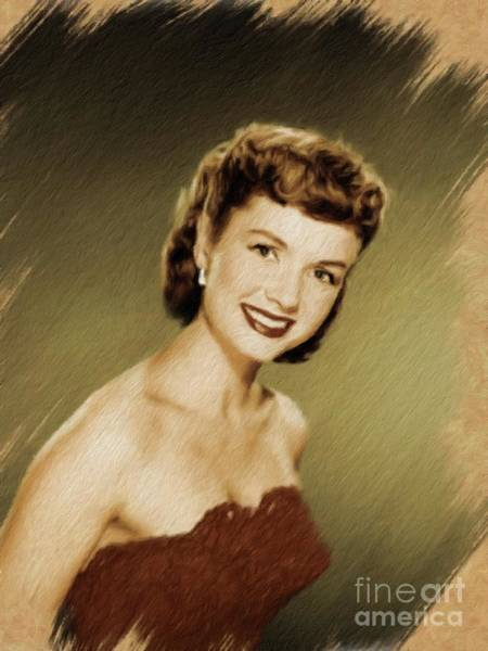 Wall Art - Painting - Debbie Reynolds, Vintage Actress by Mary Bassett