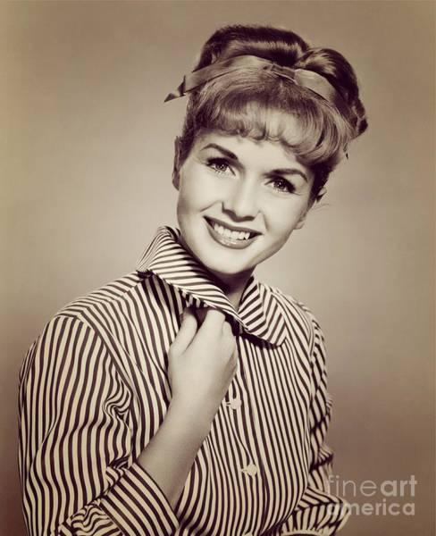 Wall Art - Photograph - Debbie Reynolds, Vintage Movie Star by Esoterica Art Agency