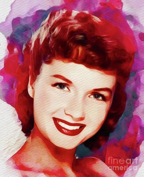 Wall Art - Painting - Debbie Reynolds, Vintage Movie Star by John Springfield