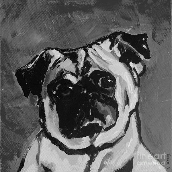 Painting - Deb's Ming Monochrome by Rebecca Weeks Howard