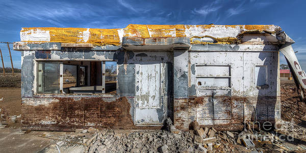 Wall Art - Photograph - Decaying Diner At The Drive-in by Twenty Two North Photography