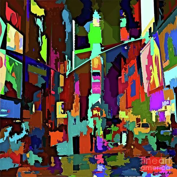 Wall Art - Digital Art - December In New York by Dragica Micki Fortuna