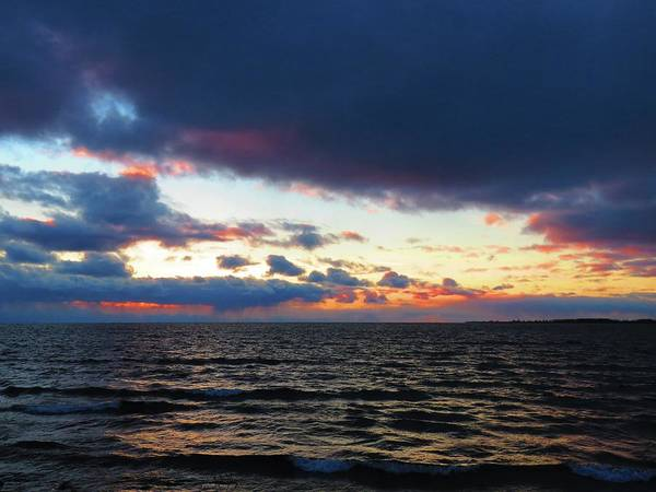 Photograph - December Sunset, Wolfe Island, Ca. View From Tibbetts Point Lighthouse by Dennis McCarthy