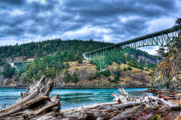 David Patterson Photograph - Deception Pass Bridge by David Patterson