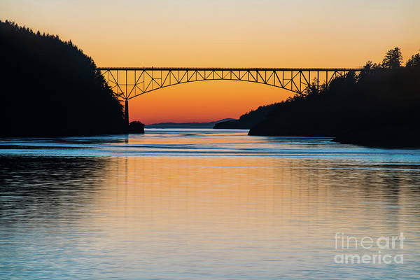Whidbey Island Wall Art - Photograph - Deception Pass Bridge Evening Tranquility by Mike Reid