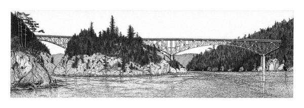 Drawing - Deception Pass by Lorrisa Dussault