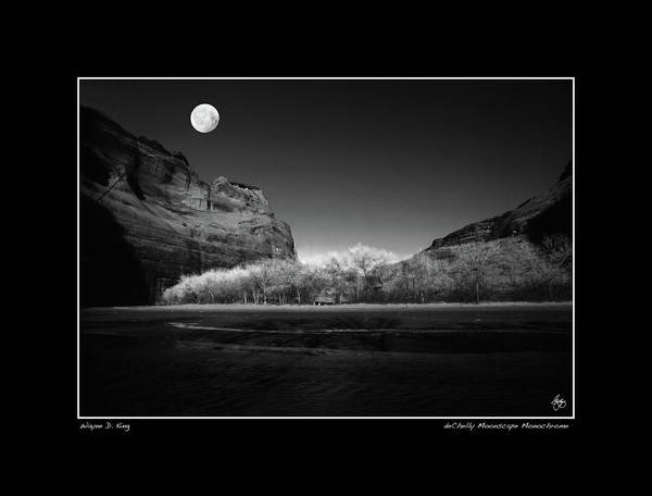 Photograph - deChelly Monochrome Poster by Wayne King