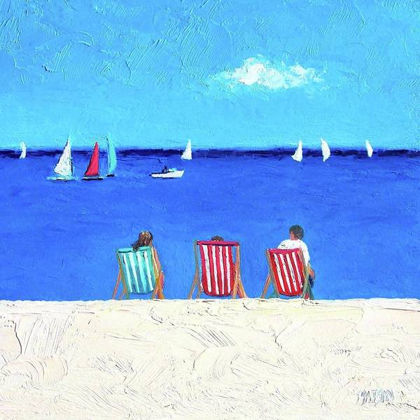 Brighton Painting - Deck Chair View by Jan Matson