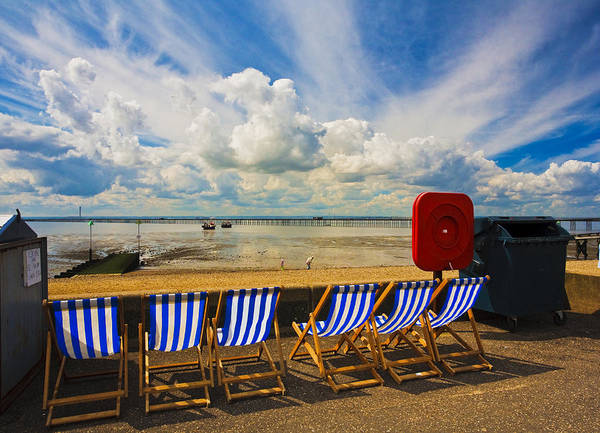 Southend Photograph - Deck Chairs At Southend On Sea by Sheila Smart Fine Art Photography