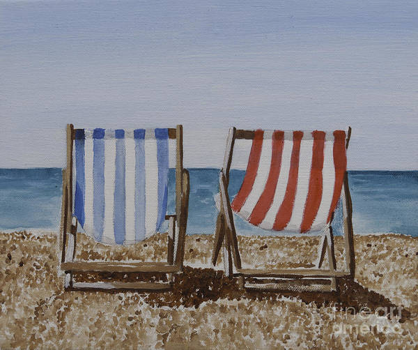 Painting - Deck Chairs by James Lavott