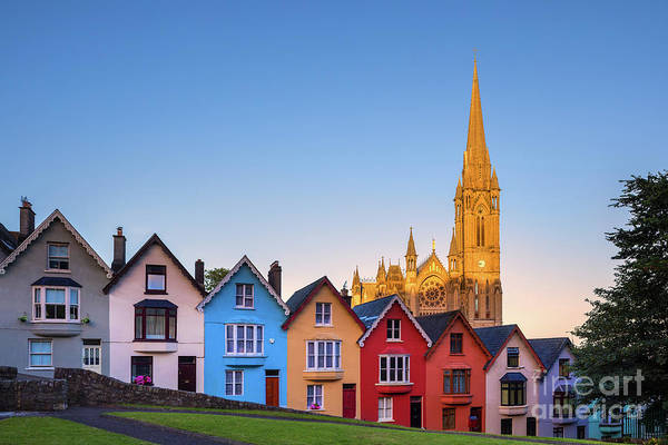 County Cork Wall Art - Photograph - Deck Of Cards And St Colman's Cathedral, Cobh, Ireland by Henk Meijer Photography