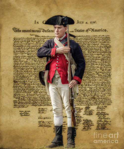 Declaration Of Independence Digital Art - Declaration Of Independence Continental Soldier Ver Two by Randy Steele